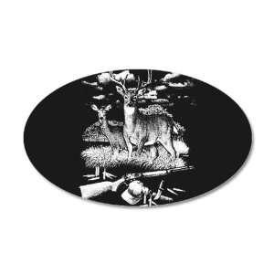 Vinyl Sticker Deer Hunting Buck Doe Rifle and Hat: Everything Else