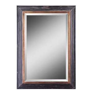 Castell Black & Gold Finish Wall Mirror