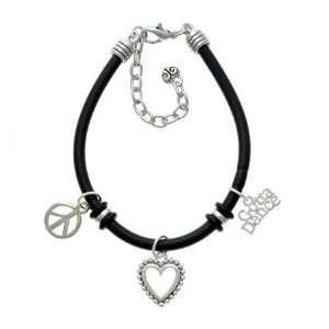 Gotta Dance Black Peace Love Charm Bracelet [Jewelry]