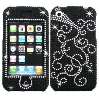 RHINESTONE BLING CRYSTAL FACEPLATE HARD SKIN CASE COVER APPLE IPHONE1