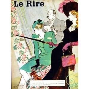 RIRE (THE LAUGH) FRENCH HUMOR MAGAZINE LADIES FASHION: