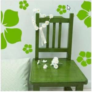Green small flowers Vinyl Wall Art Sticker Decals Easy installation