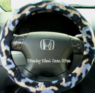Car Steering Wheel Cover Soft Blue Camo Print NEW