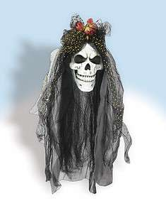 Scary Skull Bride Head Halloween Prop *New*