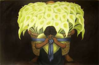Diego Rivera El Vendedor de Alcatraces Oil Repro 24x36