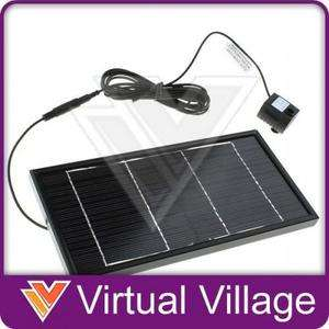 Solar Power Water Pump Garden Pond Fountain Panel 12V