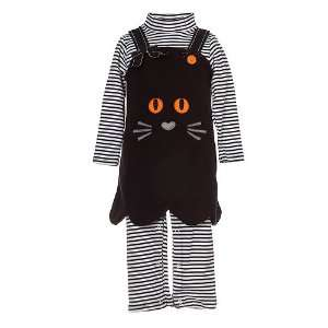 Bonnie Jean Infant Baby Girls Black Cat Jumper Outfit 3M 24M Bonnie