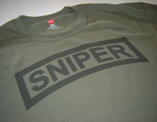 Sniper Tab US Army Rangers Scout Military New T shirt