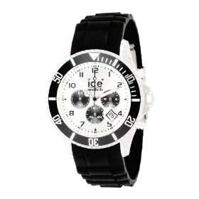 Ice Watch Mens CH.BK.B.S.09 Chrono Collection Silver Dial Black Strap