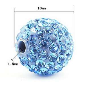 Disco Rhinestone Crystal Ball Beads Hip Hop Charms Choose Color