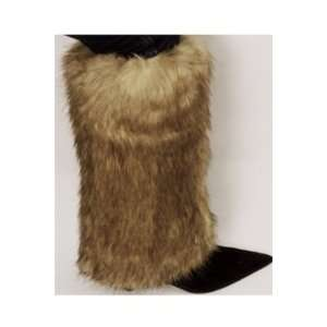 Two Tone Faux Fur Leg Warmers / Boot Covers / Boot Sleeves
