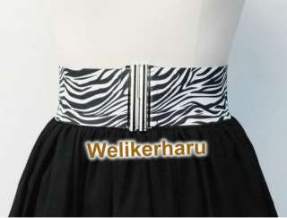 New Zebra Printed Sexy Lady Clothes Accessory Belt