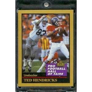 1991 ENOR Ted Hendricks Football Hall of Fame Card #61