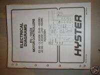 HYSTER EV 100ZX FORK LIFT ELECTRICAL DIAGRAMS MANUAL