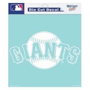 San Francisco Giants Die Cut Decal   8in x8in White