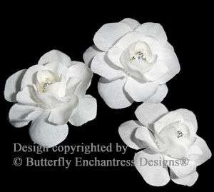 Crystal White Flower Bridal Hair Pins Wedding
