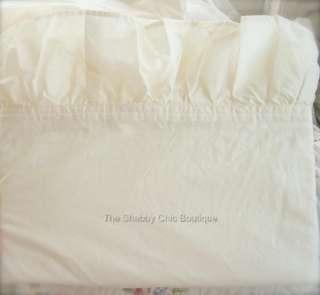Shabby Romance Vintage Ivory Twin Sheet Set Cottage Ruffle Chic New 15