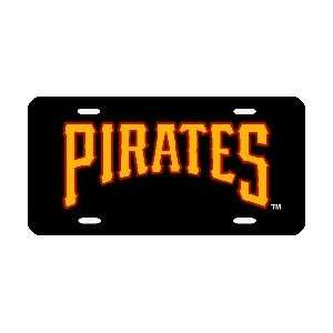 Pittsburgh Pirates Laser Cut Black License Plate Sports