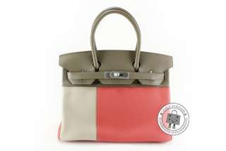 CASAQUE BIRKIN GRIS + ROSE JAIPUR + ETOUPE LEATHER BAG MHW