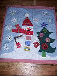 SNOWMAN POTTERY BARN KIDS CHRISTMAS ADVENT CALENDAR
