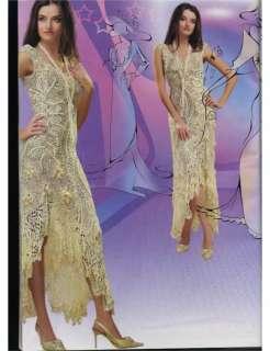 Evening Dress Patterns on Irish Lace Evening  Wedding Dresses Crochet Patterns Book Magazine Top