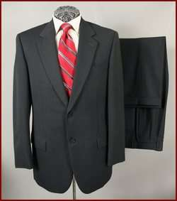 STUDIO SFI MENS ITALIAN WOOL NAVY BLUE PINSTRIPE SUIT 40 R