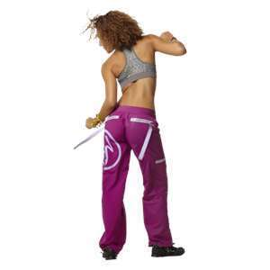 Zumba New in Package Wonder Cargo Pants Plum Size X Large