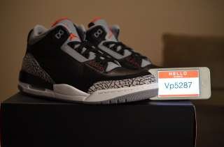 Brand NEW Nike Air Jordan Retro 3 Black Cement III Size 10,11 Will