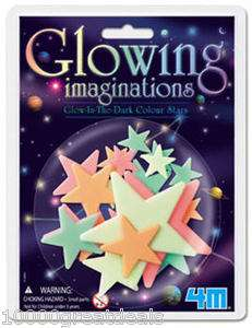 Glow In Dark Colored Stars MultiColor Glowing Star + Putty ToySmith