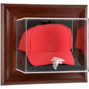 Atlanta Falcons Brown Framed Wall Mounted Logo Cap Case