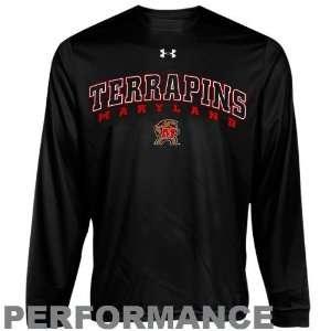 Maryland Terrapins Black HeatGear Training Long Sleeve Performance