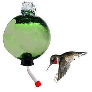 Parasol Dewdrop Emerald Green Recycled Glass Hummingbird