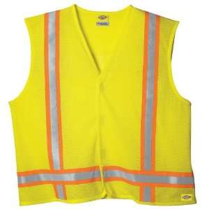 Dickies Large/ Extra Large High Visibility Yellow ANSI Class 1 Tri C