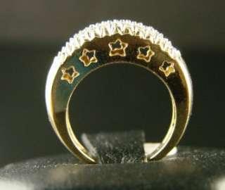 14K LADIES PRONG SET ROUND DIAMOND BAND RING .60 CT
