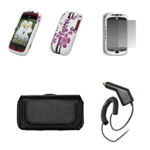 HC Myouch 3g Slide Black Leaher Carrying Case + Whie