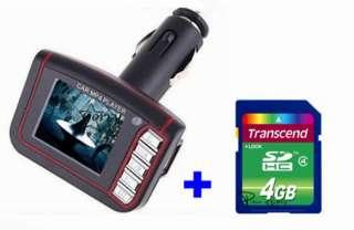 LCD Car  MP4 Player Wireless FM Transmitter Remote Black +4G