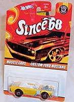 HOT WHEELS Since 68   CUSTOM FORD MUSTANG Yellow NEW