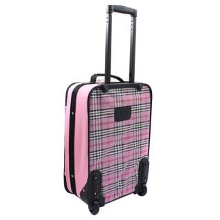 Carry On & Tote 2 Piece Luggage Set   Pink Cross 675478102541