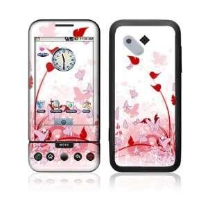 HTC Google G1 Decal Vinyl Skin   Pink Butterfly Fantasy