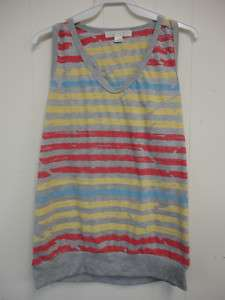 Forever 21 womens stripe printed tank top new Sz L