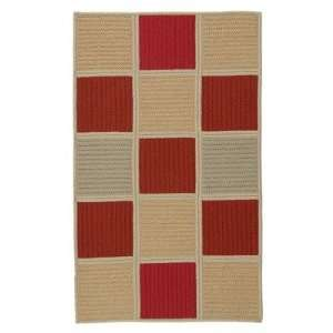 Colonial Mills HS08 Simply Home Hopscotch Red Sand Braided Rug Baby