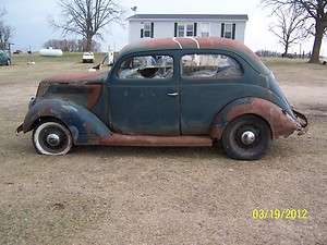 37 Ford tudor slantback project car hot rat rod 1937