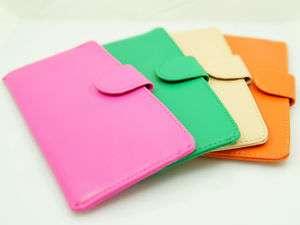 flat LONG PURSE WALLET CARD HOLDER thin Pink Orange Green Beige