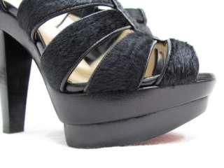 Christian Louboutin Black Bouclette Animal Hair Heels35
