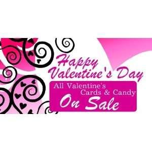 3x6 Vinyl Banner   Valentines Day Candy Sale