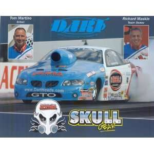 Tom Martino Skull Gear/Dart NHRA drag racing postcard Everything Else