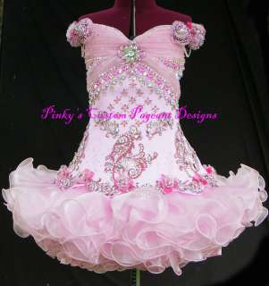 CUSTOM MADE NATIONAL PAGEANT DRESS / OOAK HIGH GLITZ