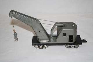 Marx Toys O Scale New York Central System NYC Grey Crane Car