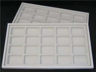 Zippo Lighter Display Inserts White Stackable Trays