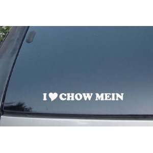 I Love Chow Mein Vinyl Decal Stickers